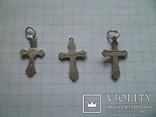 Три маленьких серебряных крестика., фото №5