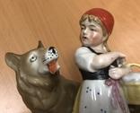 Красная шапочка и волк. Старая Германия. Высота - 18 см, фото №7