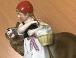 Красная шапочка и волк. Старая Германия. Высота - 18 см, фото №8