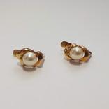 Золотые серьги с жемчугом, фото №5
