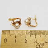 Золотые серьги с жемчугом, фото №8