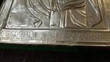 Срібна  Ікона Казанская Божа матір в кіоті, фото №5