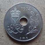 25  эре 1974  Дания   (К.37.21)~, фото №3