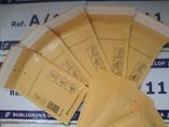 Бандерольный конверт А11 100х160, 50 шт, Польша, желтые, фото №2