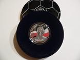 Короли футбола - Збигнев Бонек - серебро - футляр, сертификат, коробка, фото №2