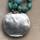 Масивное старое украшение (бирюза,гемма из сердолика,серебро), фото №8