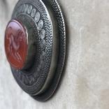 Масивное старое украшение (бирюза,гемма из сердолика,серебро), фото №10