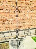 Старая высокая вешалка металлическая, фото №4
