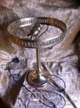 Латунная Настольная Лампа Двойное Цветное Стекло, фото №2