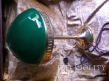 Латунная Настольная Лампа Двойное Цветное Стекло, фото №12