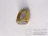Перстень 11-13 век, золото ,камень, фото №8