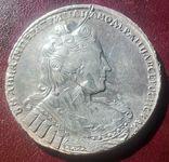 Рубль Анны 1733 года без броши на груди, фото №2