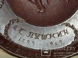 """Сувенирная тарелка - плакетка """"150 лет со дня рождения А.С. Пушкина""""., фото №5"""
