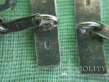 Запонки серебро 875 камень ( 6ПЗ ) 11.1гр., фото №6