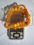 Натуральные янтарные бусы 40 грамм, фото №13