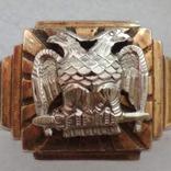 Масонское золотое кольцо, фото №3