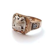 Масонское золотое кольцо, фото №5
