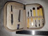 Маникюрный набор.сделано в ссср.ручки янтарь, фото №7