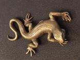 Ящерица саламандра коллекционная миниатюра бронза, фото №3