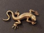 Ящерица саламандра коллекционная миниатюра бронза, фото №4