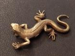Ящерица саламандра коллекционная миниатюра бронза, фото №5