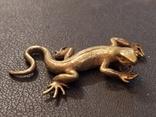 Ящерица саламандра коллекционная миниатюра бронза, фото №2