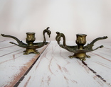Старинные подносные подсвечники Жар-птица. Германия, фото №3