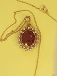 Кулон розовое золото,натуральный Рубин, Бриллианты фото 3