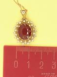 Кулон розовое золото,натуральный Рубин, Бриллианты фото 4