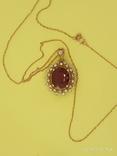 Кулон розовое золото,натуральный Рубин, Бриллианты фото 6