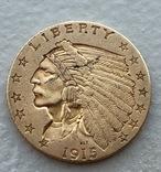 2,5 $ 1915 год США золото 4,16 грамм 900', фото №2