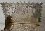 Большая солонка (трон, стул) с надписью: Без соли  без хлеба половина обеда, фото №5