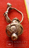 Золотая сережка, Хазарський каганат, Салтівська культура, вес 5.5 грм., фото №2