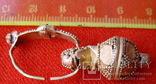 Золотая сережка, Хазарський каганат, Салтівська культура, вес 5.5 грм., фото №5