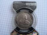 1 рубль 1750 года  AU 53, фото №2