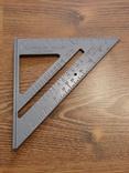 Угольник Свенсона метрический уголок транспортир Столярный алюминювый угольник, фото №2