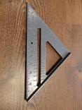 Угольник Свенсона метрический уголок транспортир Столярный алюминювый угольник, фото №3