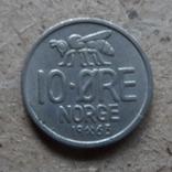 10 эре  1963  Норвегия   (К.7.7)~, фото №3