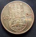 10 эскудо Португалия 1954г. серебро 12,2гр., фото №3