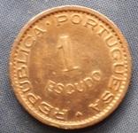 1 эскудо Португальский Мозамбик 1962г. медь, фото №3