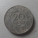 20 грош 1923  Польша цинк  (О.1.18)  ~, фото №2