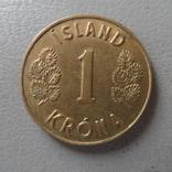 1 крона 1975  Исландия   (О.1.21)  ~, фото №2