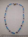 Ожерелье кварц жемчуг стекло  натуральные камни серебро 925, фото №2