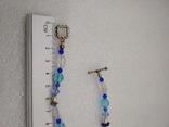 Ожерелье кварц жемчуг стекло  натуральные камни серебро 925, фото №5