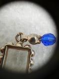 Ожерелье кварц жемчуг стекло  натуральные камни серебро 925, фото №6