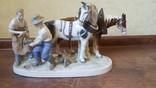 """Статуэтка большая Германия """"Кузнецы меняют подковы лошади"""", фото №2"""