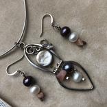 Колье и серьги, Англия (серебро,натуральный жемчуг,перламутр), фото №7