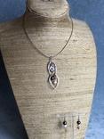 Колье и серьги, Англия (серебро,натуральный жемчуг,перламутр), фото №11