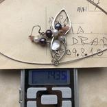 Колье и серьги, Англия (серебро,натуральный жемчуг,перламутр), фото №13