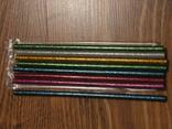 Силиконовый клей для пистолета с блестками 7мм (разноцветый) 8шт, фото №2